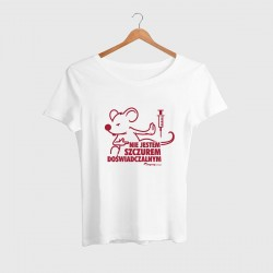 Koszulka damska Szczur biała